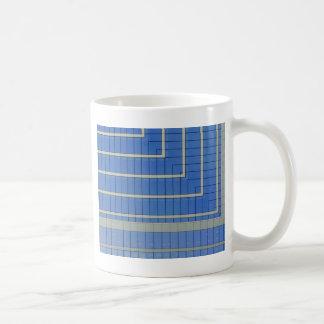 Blauer Gebäude-Block 4 Kaffeetasse