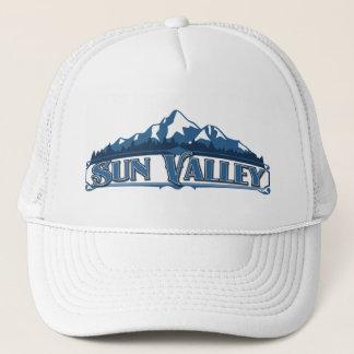 Blauer Gebirgshut Sun Valley Truckerkappe