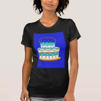 Blauer Geburtstags-Kuchen T-Shirt
