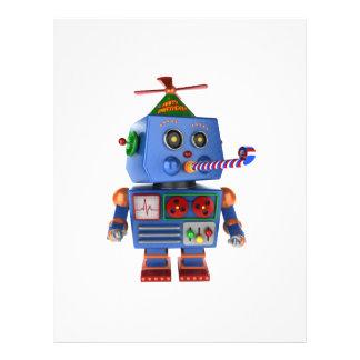 Blauer Geburtstags-Party-Spielzeugroboter 21,6 X 27,9 Cm Flyer