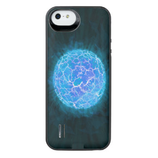 Blauer gefrorener Planet iPhone SE/5/5s Batterie Hülle