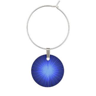 Blauer Geist-Kreis Weinglas Anhänger