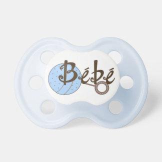 Blauer Geklapper Bebe Baby-Schnuller Schnuller