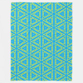 Blauer gelber geometrischer Azteke 4Victor Fleecedecke
