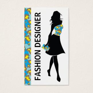 Blauer gelber Pantherdruck des Visitenkarten