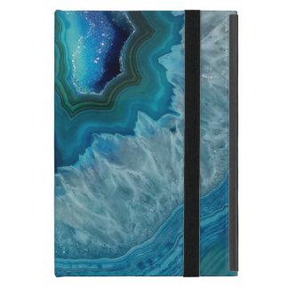 Blauer Geode Felsen-Mineralachat-Kristall-Bild iPad Mini Schutzhüllen