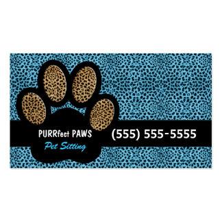 Blauer Gepard-Druck-kundenspezifisches Visitenkarten Vorlage