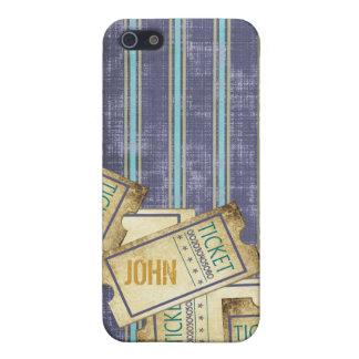 Blauer gestreifter Karten iPhone Kasten iPhone 5 Case