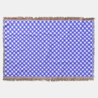 Blauer Gingham Decke