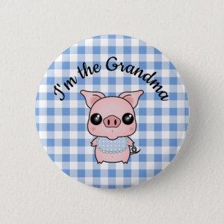 Blue Gingham Piggy
