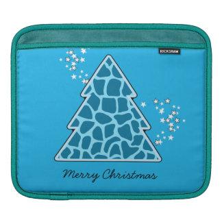 Blauer Giraffe Weihnachtsbaum Sleeve Für iPads