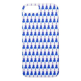 blauer Gitarrentelefonkasten iPhone 8/7 Hülle