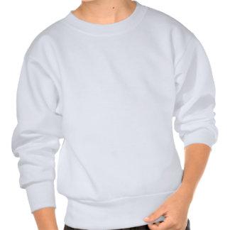 Blauer Glasengel, der auf weißem Hintergrund betet Sweater