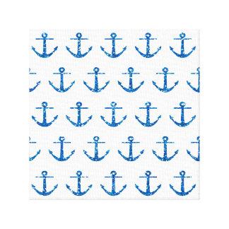 Blauer Glitter-Anker-Muster-Leinwand-Druck Leinwanddruck