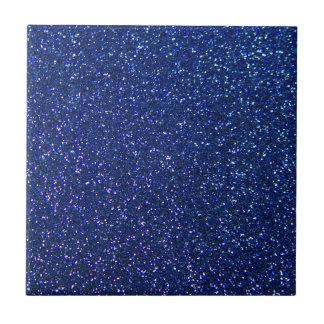 Blauer Glitter Fliese