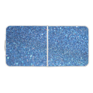 Blauer Glitter-glänzende Art Beer Pong Tisch