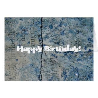 Blauer Glitter-Vintages Papier, alles Gute zum Karte