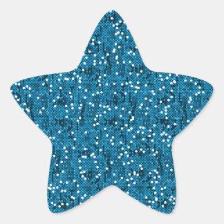 Blauer Glittery PailletteConfetti Stern-Aufkleber