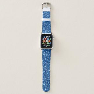 Blauer Glitzer-Entwurf Apple Watch Armband