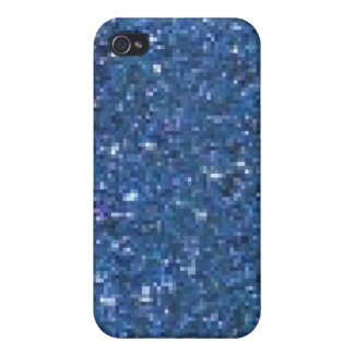 Blauer Glitzer iPhone 4 Cover