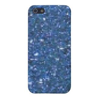 Blauer Glitzer iPhone 5 Etui