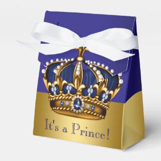 Blauer Goldkronprinz Babyparty Geschenkschachteln