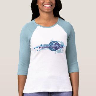 Blauer grafischer Kreis-New- YorkT - Shirt Jersey