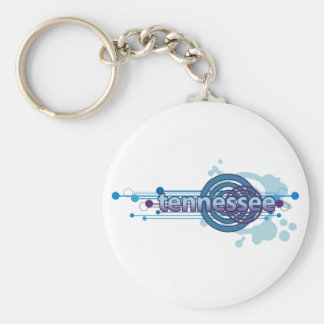 Blauer grafischer Kreis Tennessee Keychain Schlüsselanhänger