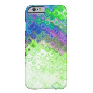 Blauer, grüner, lila Riss-Tropfen-Metalleffekt Barely There iPhone 6 Hülle