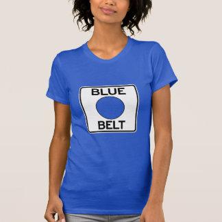 Blauer Gurt-T - Shirt Pittsburghs (der Schnitt der