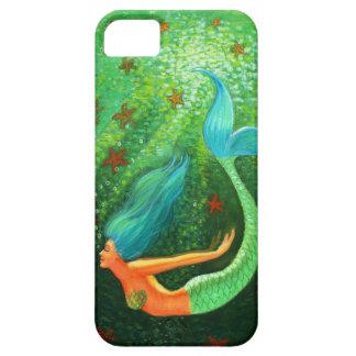Blauer Haar-Meerjungfrauphantasiekunst iPhone 5 iPhone 5 Etui