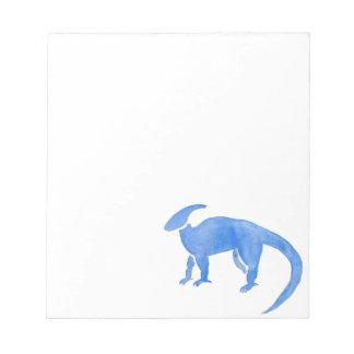 Blauer Hadrosaur Notizblock
