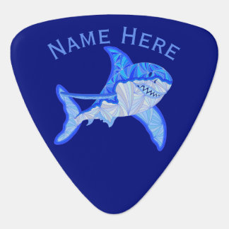 Blauer Hai-buntes Seetier Plektrum