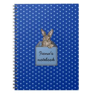 blauer Häschen-in-dBox Notizbuch