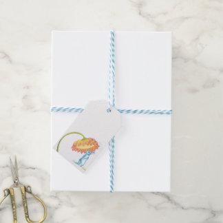 blauer Häschengeschenkumbau Geschenkanhänger