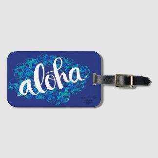 Blauer HawaiiAloha Gepäckanhänger Gepäckanhänger