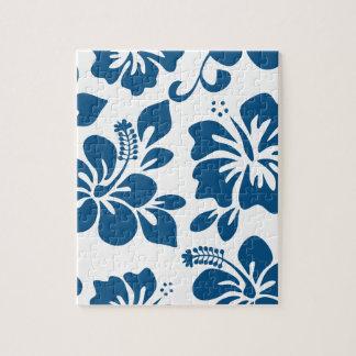 Blauer hawaiischer Hibiskus Puzzle