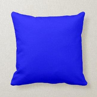 Blauer heller elektrischer blauer blauer kissen