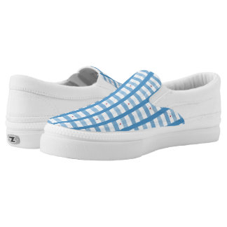 Blauer Herz-Gingham Slip-On Sneaker