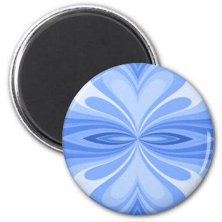 Blauer Herz-Schmetterling abstrakt Runder Magnet 5,1 Cm