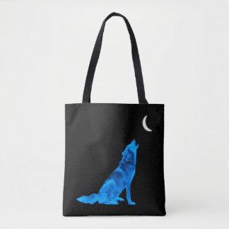 Blauer Heulenwolf Tasche
