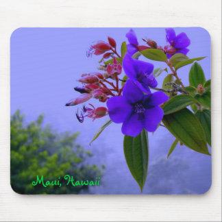 Blauer Hibiskus-tropische Blumen Mauis Hawaii Mauspads