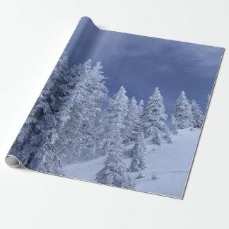 Blauer Himmel am Winter Geschenkpapier