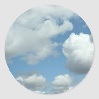 Blauer Himmel-Aufkleber Runder Aufkleber