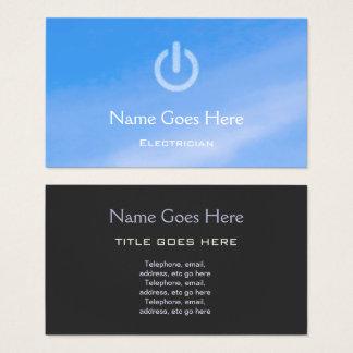 """""""Blauer Himmel-"""" Elektriker-Visitenkarten Visitenkarte"""