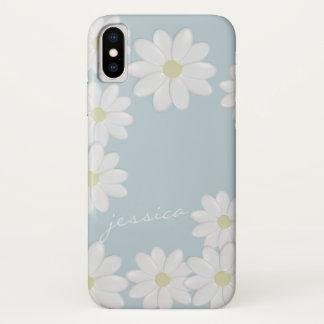 Blauer Himmel-Frühjahr-Gänseblümchen iPhone X Hülle