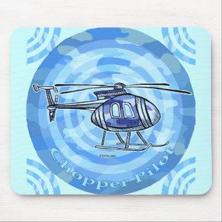 Blauer Himmel-Hubschrauber-individueller Name Mousepads