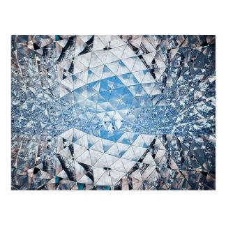 Blauer Himmel in den Kristallen Postkarte
