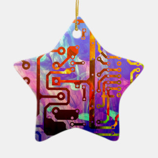Blauer Himmel Keramik Ornament