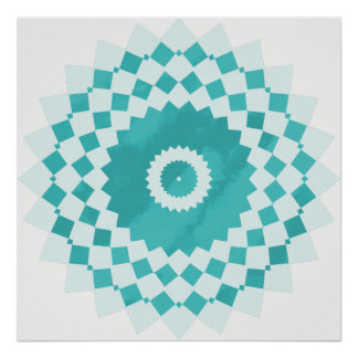 Blauer Himmel-Mandala Poster